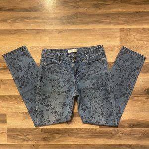 J. Jill Floral Straight Leg Jeans